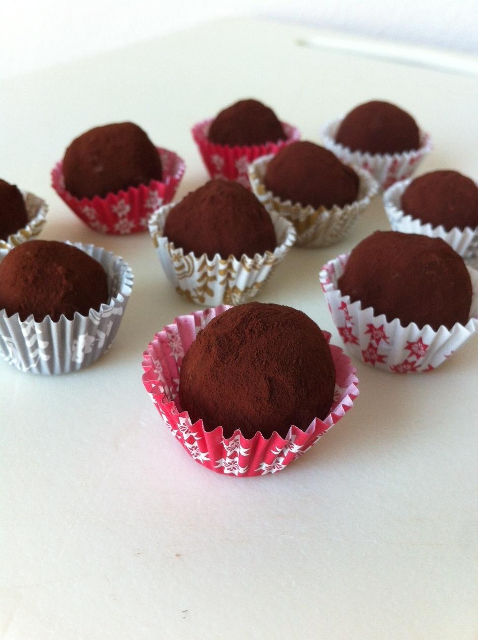 Truffe chocolat cafe
