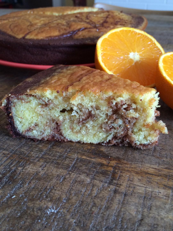 Marbre chocolat orange
