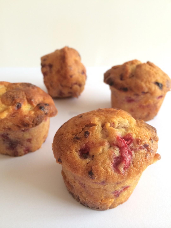 Muffin framboise choc blanc