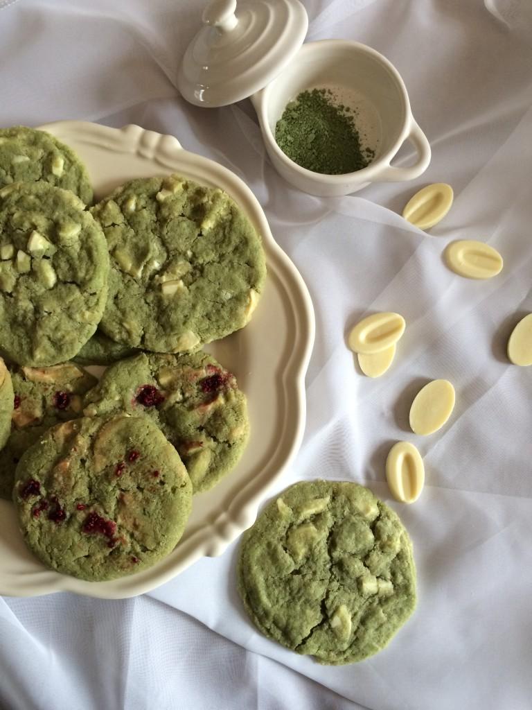 Cookies au thé matcha