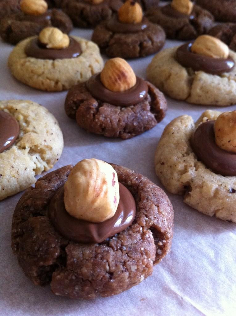 Biscuits noisette/chocolat