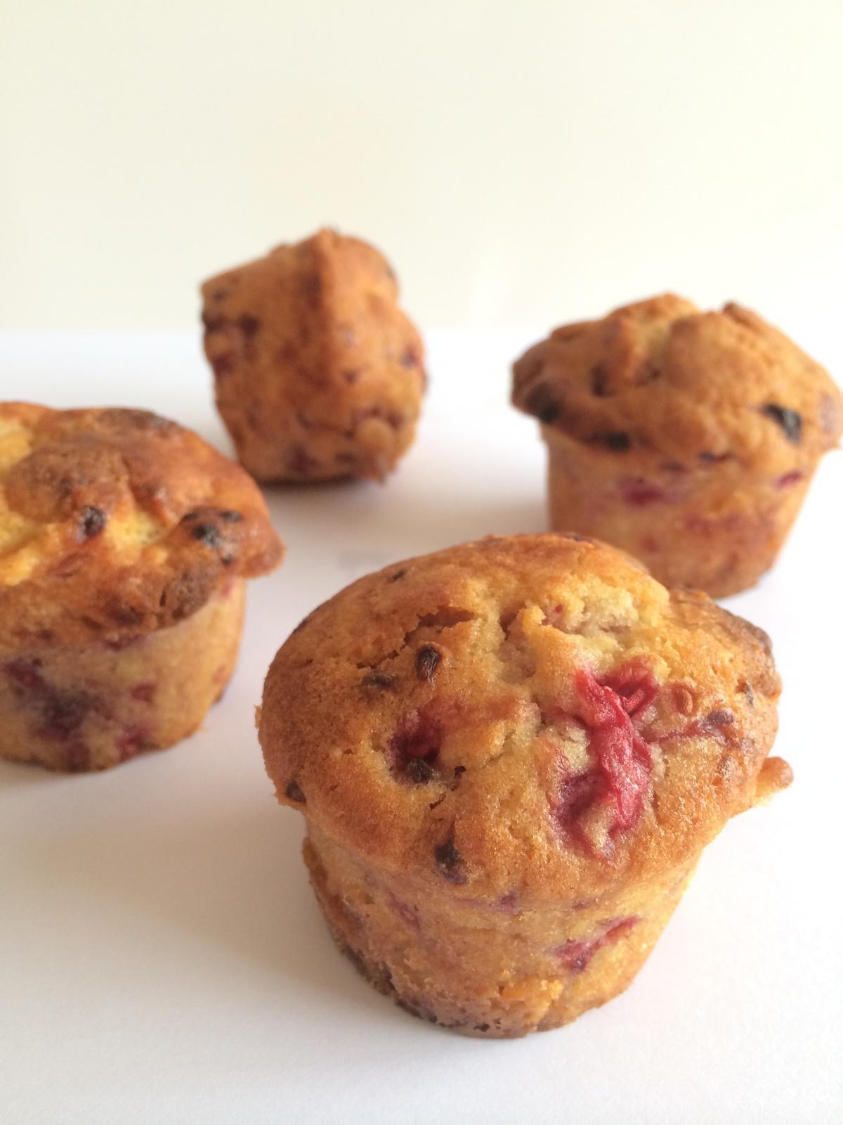 Muffins chocolat blanc – framboise
