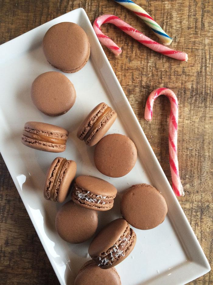 Macarons caramel ou chocolat coco